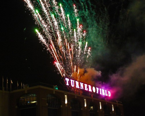 Turner Field Fireworks, 2010