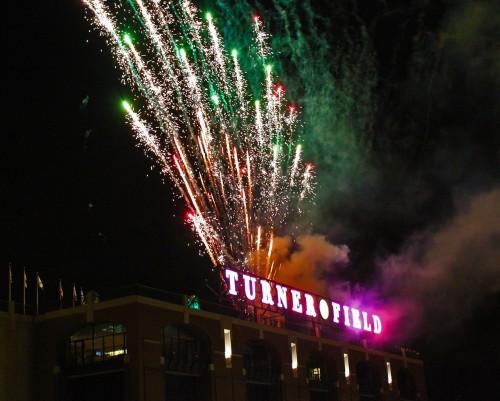 Turner Field Fireworks, 2010
