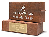 Atlanta Braves Legacy Bricks sold at Turner Field
