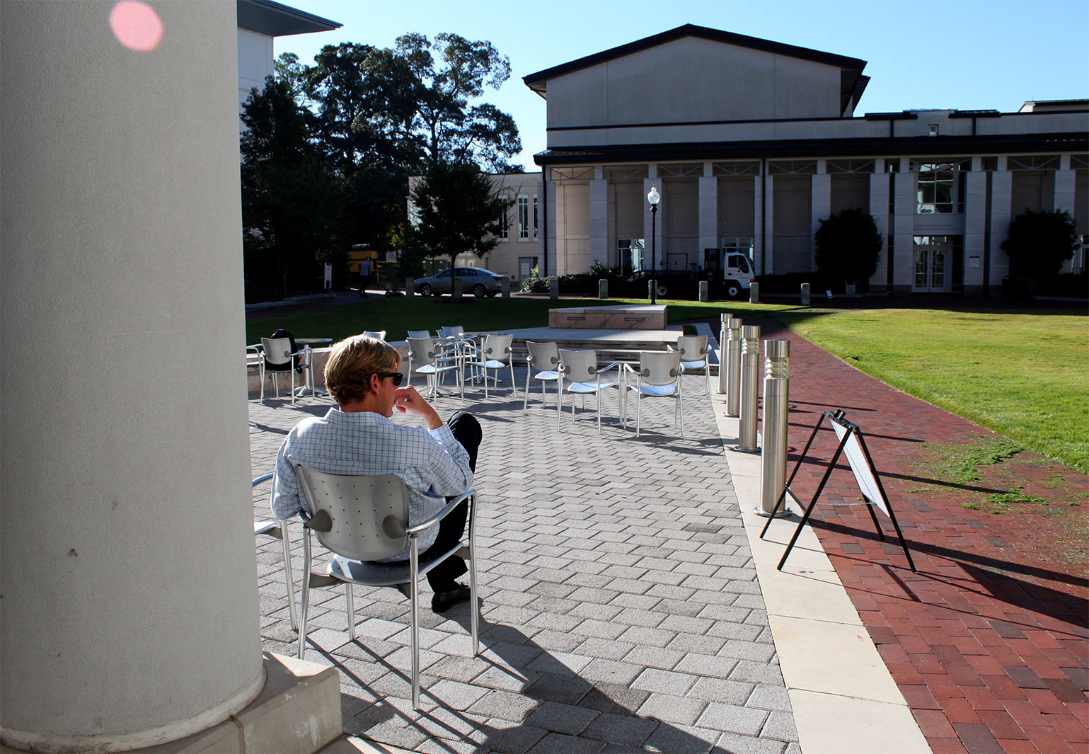 Goizueta Business School Courtyard Student