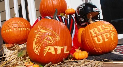 Atlanta Falcons Logo Carved Pumpkin