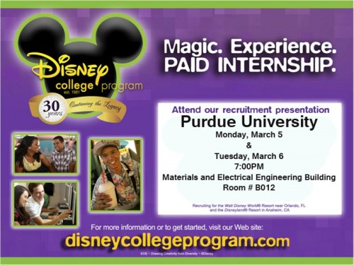Disney College Program Invite