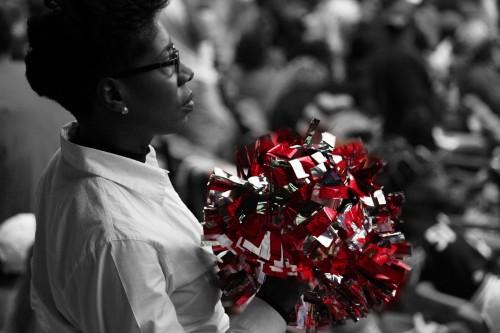 Atlanta Falcons Woman and Pom Pom